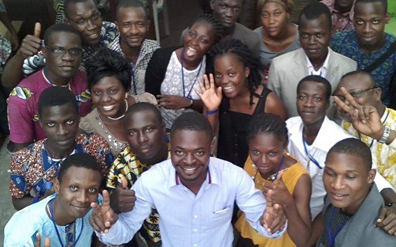 La superbe photode famille prise par le drone au blogcampbenin2015